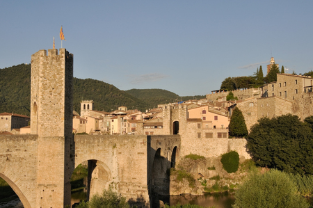 romanesque: Romanesque bridge at Besalu, Girona, Catalonia, Spain