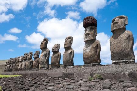 Ahu Tongariki, Easter island, Chile photo