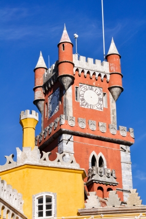 pena: Pena National Palace in Sintra, Portugal Editorial
