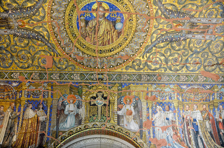 wall painting: Wall painting in the Kaiser Wilhelm Memorial Church, Berlin