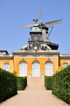 New chambers and historical windmill, Potsdam, Germany