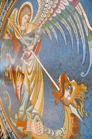 kaiser: Wall painting in the Kaiser Wilhelm Memorial Church, Berlin
