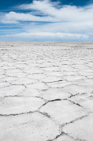 salt flat: Salar de Uyuni, Salt flat in Bolivia Stock Photo