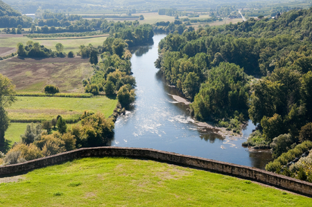 Dordogne river from the town of Beynac-et-Cazenac, France photo
