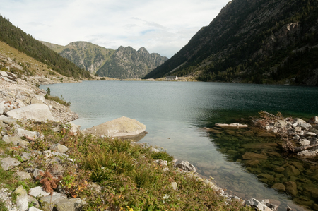 Lac de Gaube in Pont d Espagne, Pyrenees, France photo