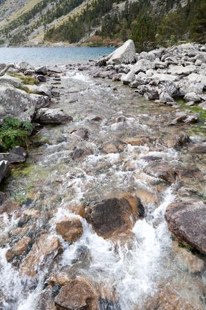 beck: Creek at Pont d Espagne, Pyrenees, France Stock Photo