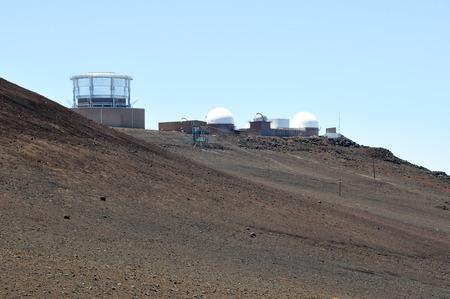 observational: Observatorio de Mauna Kea, Haleakala NP, Maui, EE.UU. Editorial