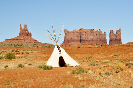 teepee: A native american tee pee in Monument valley