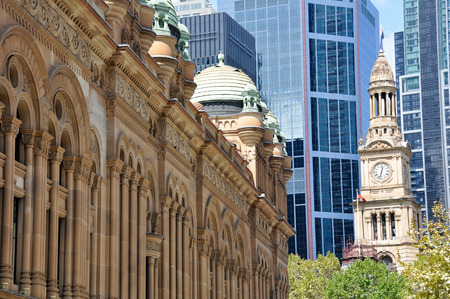 Queen Victoria Building and Sydney Town Hall, Australia