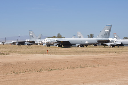 united states air force: Davis-Monthan Air Force Base AMARG boneyard in Tucson, Arizona Editorial