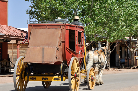 western usa: Stagecoach in Tombstone, Arizona Editorial