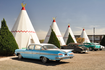 wigwam: Wigwam Motel on Route 66 on May 4, 2011 in Holbrook, Arizona  The rooms of this hotel are built in the form of tipis