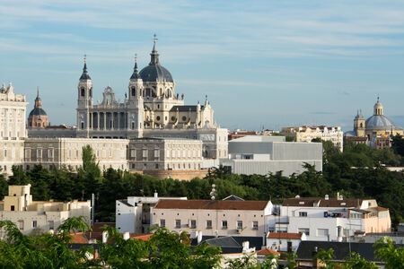 Almudena Cathedral and Royal Palace, Madrid, Spain