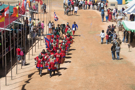 belmonte: World Championship of Medieval Combat on May 2, 2014 in Belmonte, Cuenca, Spain  This championship is celebrating in the Belmonte castle from May 1 to May 4