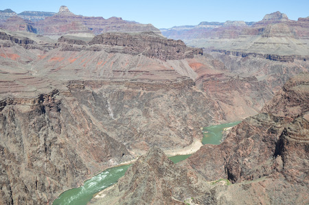 plateau point: Colorado River from Plateau Point ,South Rim, Arizona