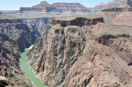 south rim: Colorado River from Plateau Point ,South Rim, Arizona