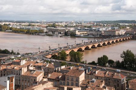 Saint Pierre bridge at Bordeaux, France photo