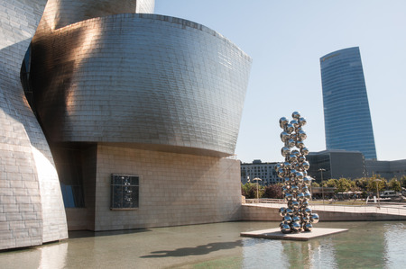 frank: Guggenheim Museum on June 12, 2013 in Bilbao, Spain  The museum was designed by Frank Ghery