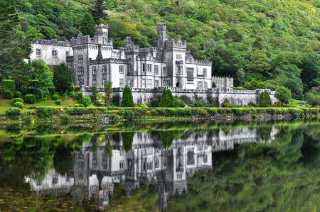 connemara: Kylemore Abbey in Connemara mountains, Ireland