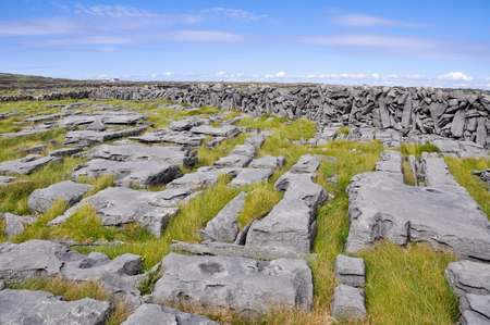 aran: Irish Landscape, Inishmore, Aran islands, Ireland Stock Photo