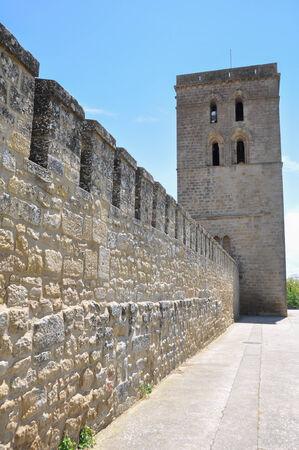 alava: Abacial tower and wall of Laguardia, Alava, Spain