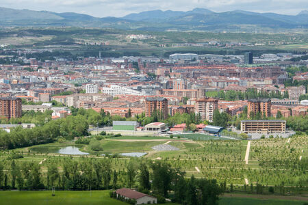 vitoria: Panorama of the downtown of Vitoria, Spain