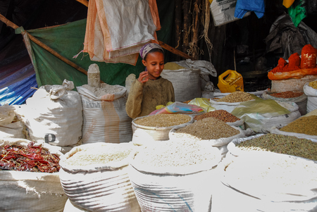Muslim market, also known as Spice market, on August 4, 2007 in Harar, Ethiopia