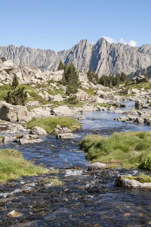 Creek at Aiguestortes and Sant Maurici National Park, Pyrenees photo