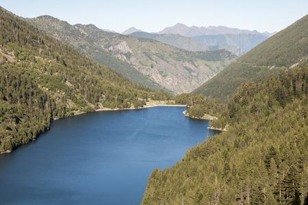 Lake Sant Maurici , national park of Aiguestortes and lake Sant Maurici, Pyrenees, Spain photo