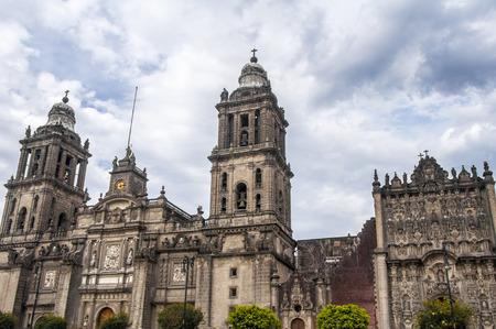 church steeple: Metropolitan Cathedral, Mexico City Stock Photo