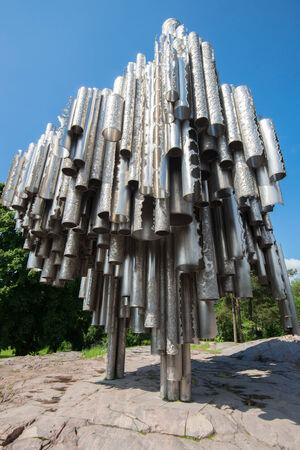 sibelius: Sibelius Monument on June 8, 2014 in Helsinki, Finland