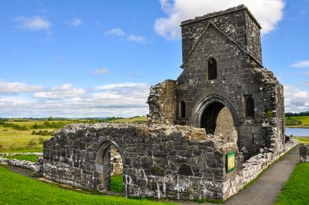 Devenish Island Monastic Site, Northern Ireland Stock Photo
