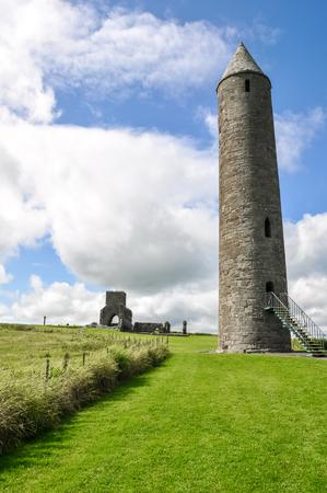 monastic site: Round tower of Devenish Island Monastic Site, Northern Ireland
