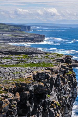 aran: Cliffs of Inishmore, Aran islands in Ireland Stock Photo