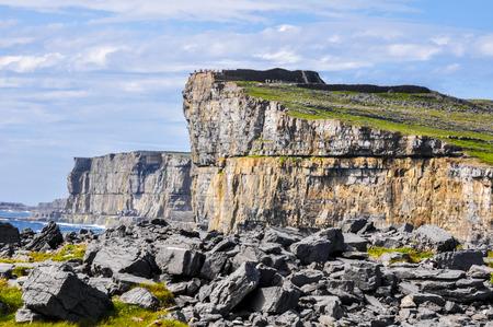 aran islands: Cliffs of Inishmore, Aran islands in Ireland Stock Photo