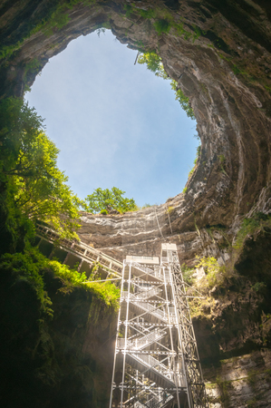 steps and staircases: Padirac Cave, Gouffre de Padirac, France