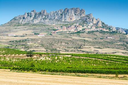 La Rioja province with Cellorigo town as background, Spain photo
