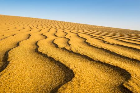 canarias: Sand waves at sunset, beach of Maspalomas, Gran Canarias Stock Photo