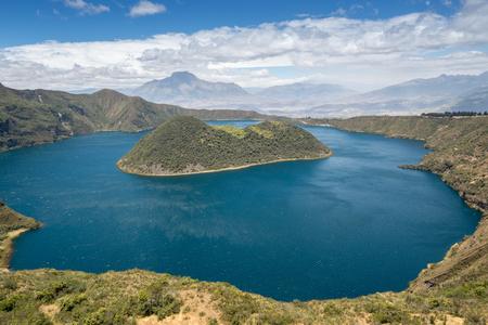 crater lake: Cuicocha crater lake, Reserve Cotacachi-Cayapas, Ecuador
