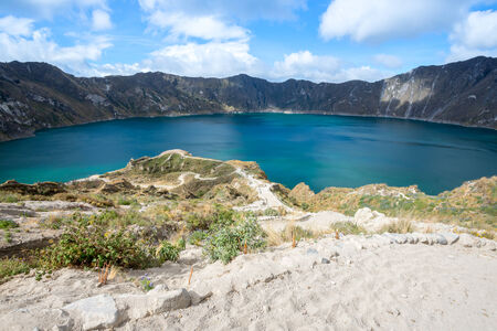 crater lake: Quilotoa crater lake, Ecuador