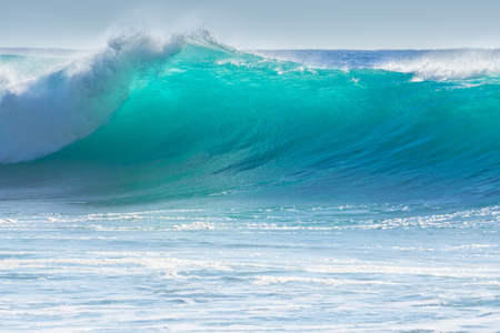 olas de mar: Olas rompiendo en la orilla de Madeira