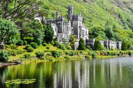 Kylemore Abbey in Connemara, Ireland 新聞圖片