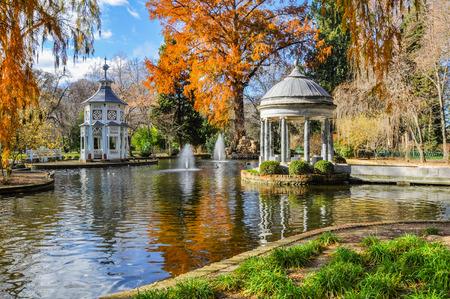 Chinescos étang, Princes jardin, Aranjuez, Madrid Banque d'images - 34306666