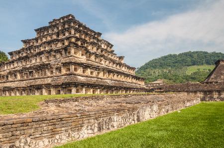 el: Pyramid of the Niches, El Tajin, Veracruz, Mexico Stock Photo
