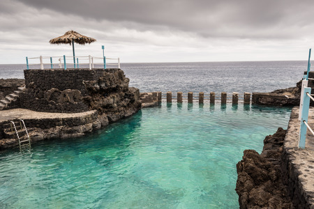 Natural swimming pools at Charco Azul, La Palma, Spain Imagens - 34530412