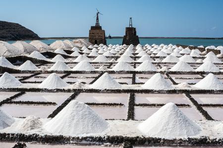 Salt works of Janubio, Lanzarote, Canary Islands photo