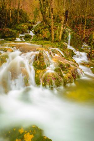 alava: Waterfalls at Entzia mountain range, Spain