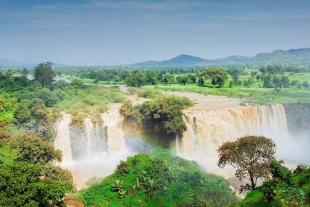 Tiss abay Falls on the Blue Nile river, Ethiopia 版權商用圖片