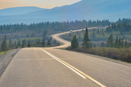 america countryside: Road in Denali national park, Alaska