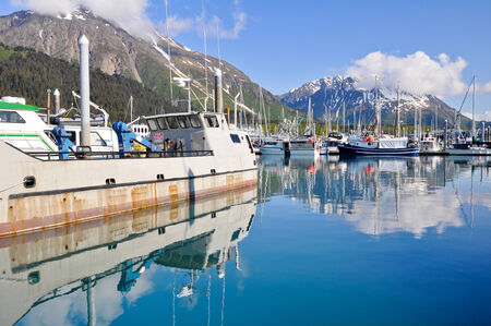 alaskan: Harbor of Seward village in Alaska Editorial